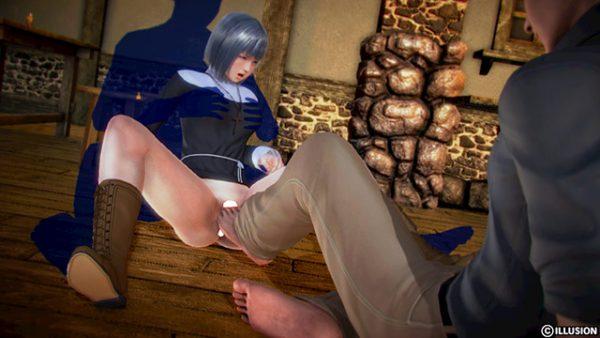 アイドルマンコに足の指を挿入